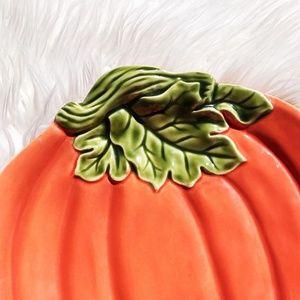 Better Homes and Gardens Holiday - Better Homes and Gardens Orange Pumpkin Platter